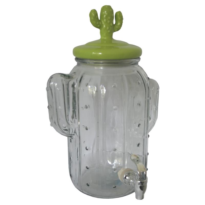 Kaktusz limonádés üveg, 5 literes