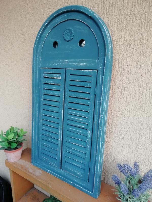 Kék antikolt tükör