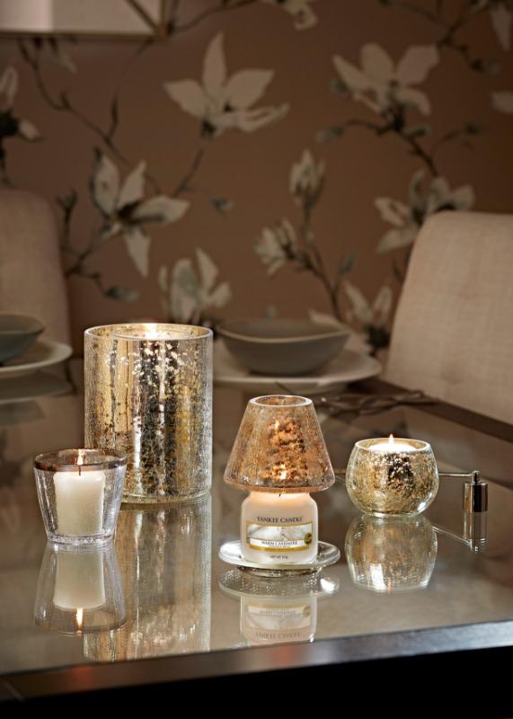 Kensington dekorációs búra és tányér, kicsi üveg gyertyához