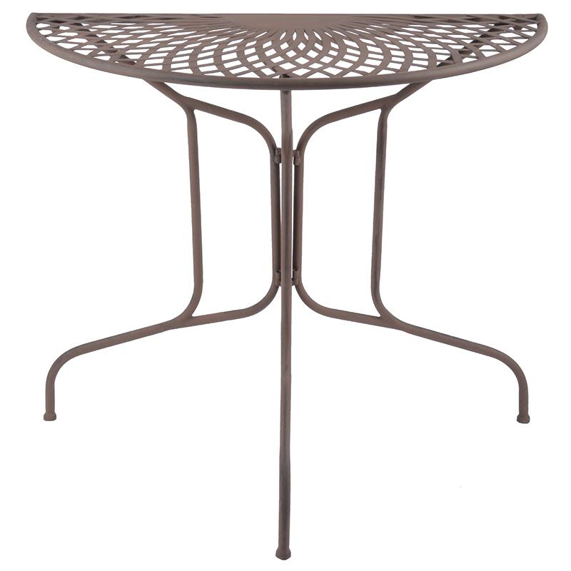 Félkör alakú kerti asztal