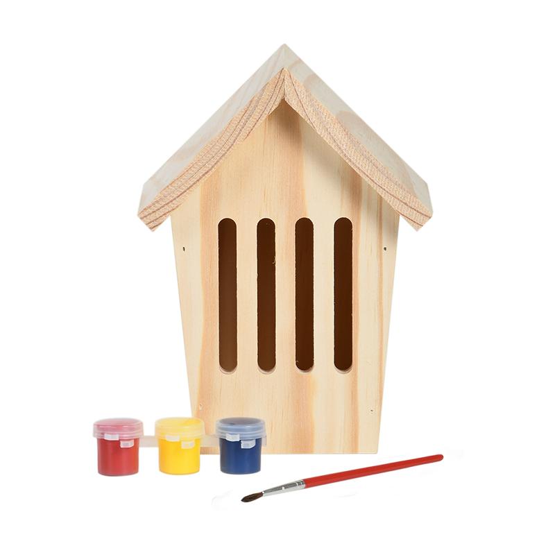 Kifesthető natúr pillangó ház, festékkel és ecsettel