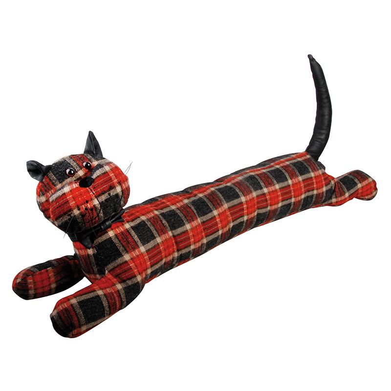 Kockás cica huzatfogó