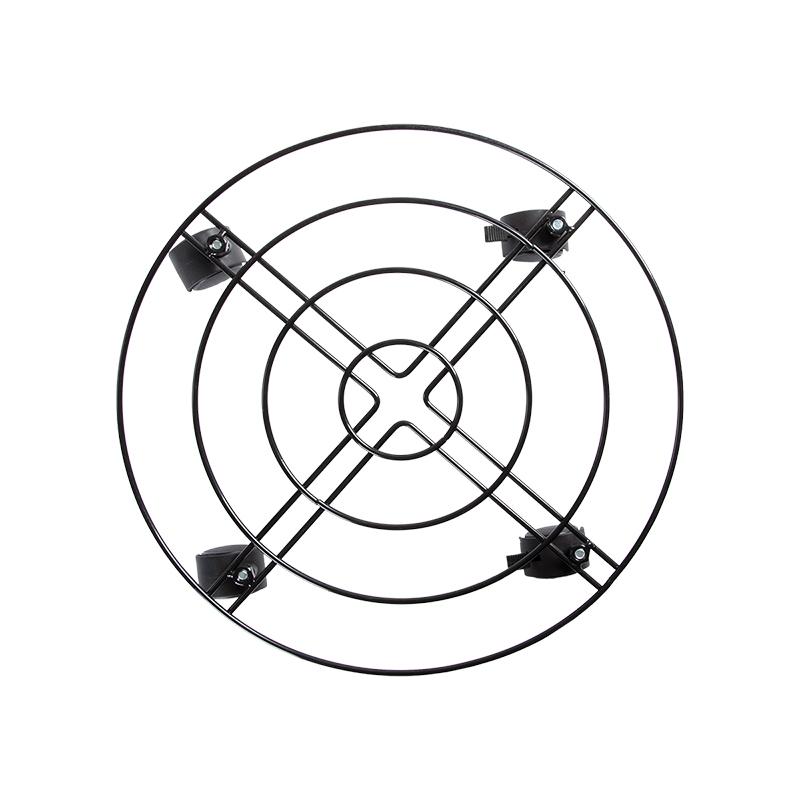 Kör alakú, fém gurulós virágtartó, L, 38 cm