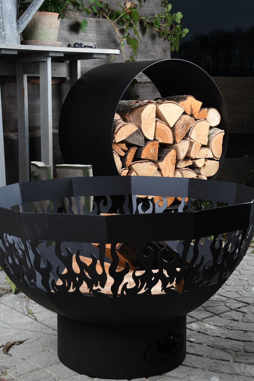 Kör alakú fa tároló