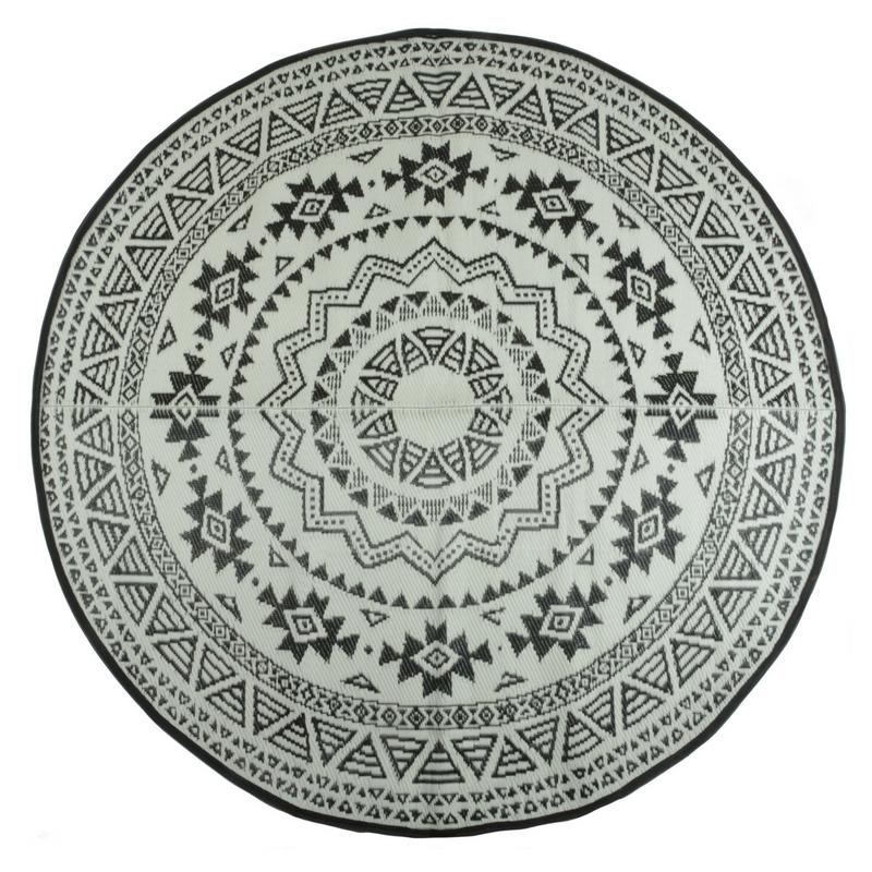 Kör alakú kültéri szőnyeg, fordítható