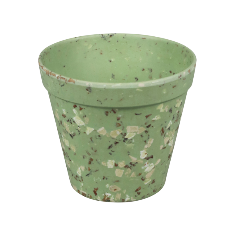 Környezetbarát virágtartó zöld színben S