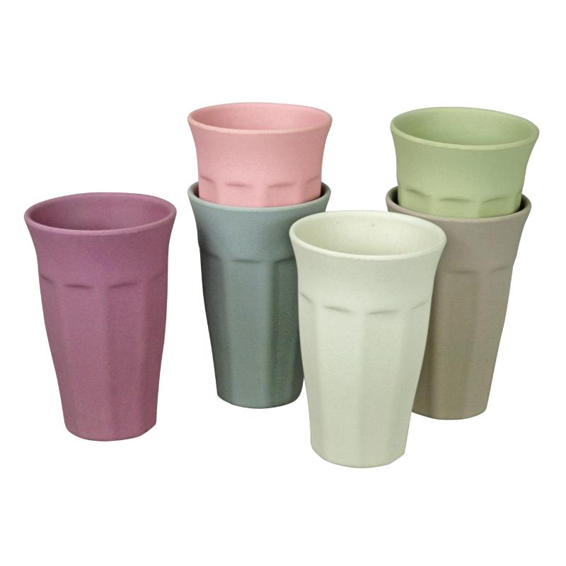 Környezetbarát  XL-es pohár szett, 6 db-os, pasztell színű