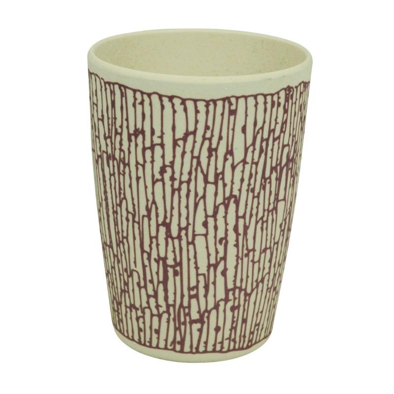 Környezetbarát pohár, lila mintával