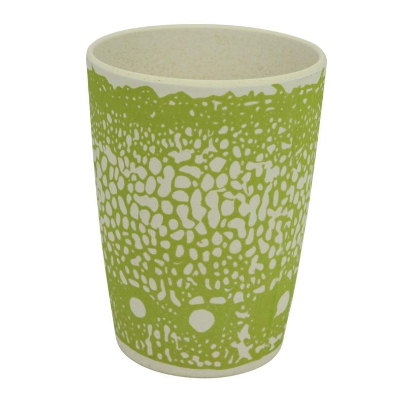 Környezetbarát pohár, zöld mintával