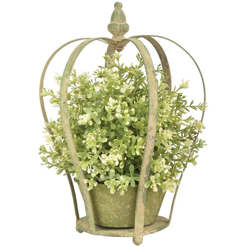 Korona alakú közepes virágtartó