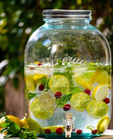 Limonádés üveg, 12,5 literes