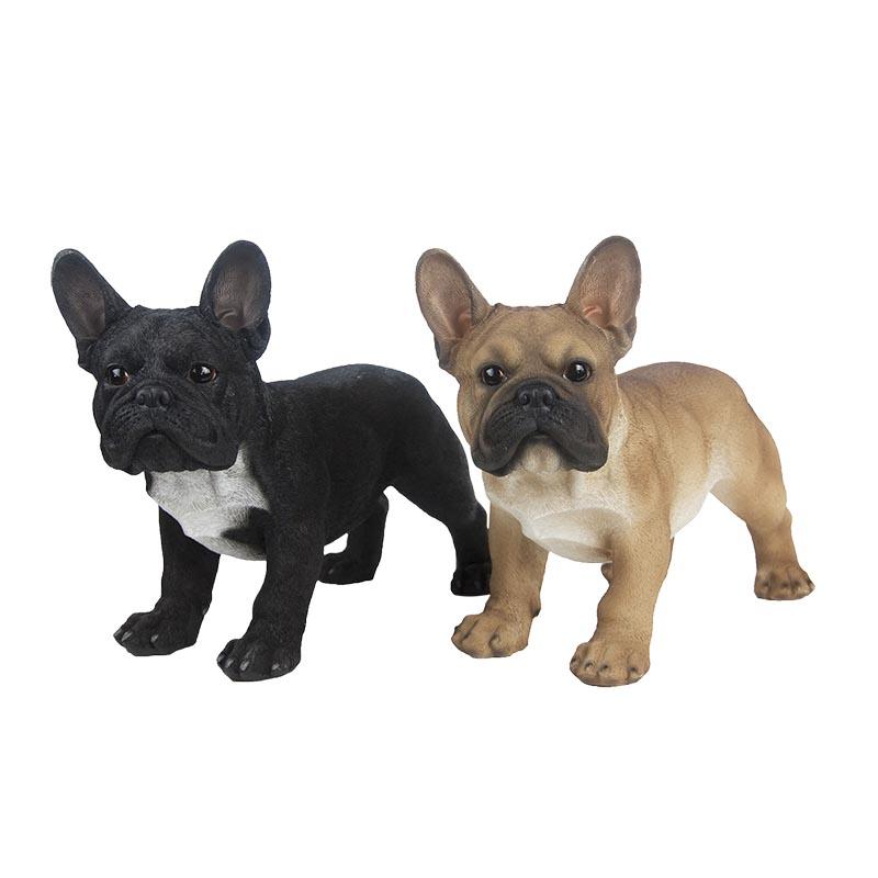 Álló francia bulldog szobor, 2 féle