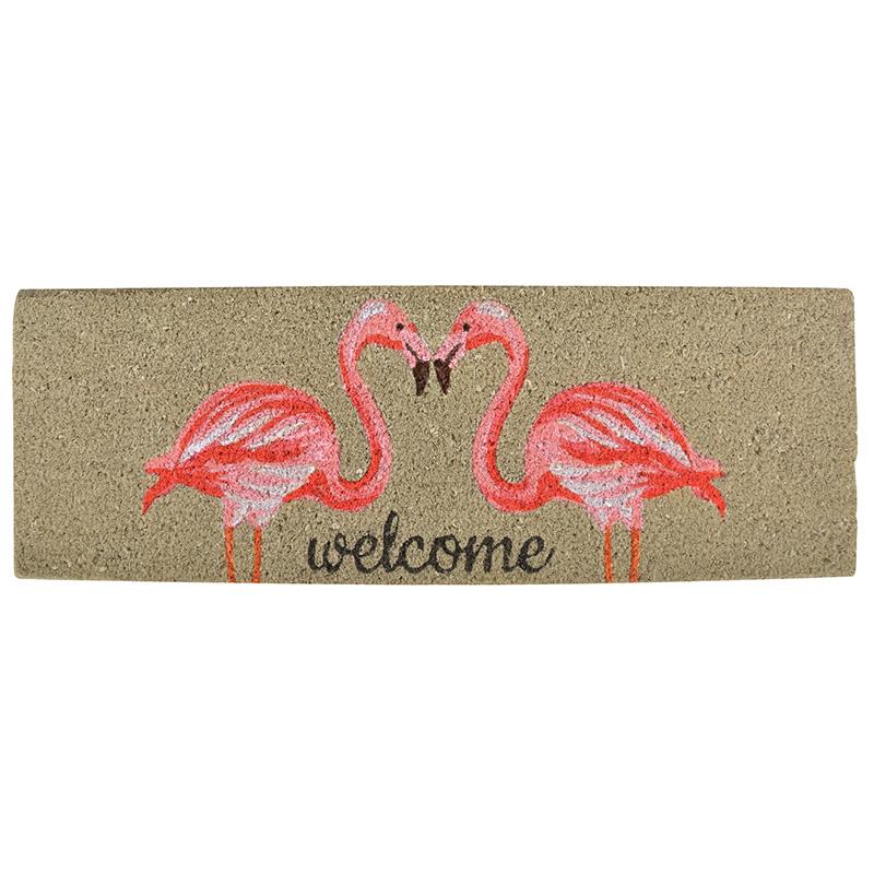 Flamingós lábtörlő kókuszrostból 75 x 25 cm
