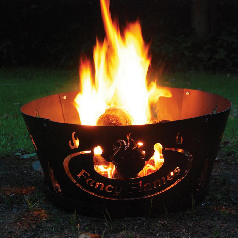Láng mintás tűzrakó