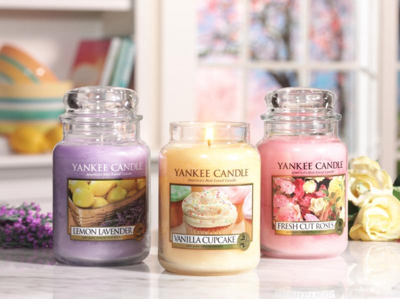 Lemon lavander, Yankee Candle illatgyertya, kicsi üveg (citrom, levendula)