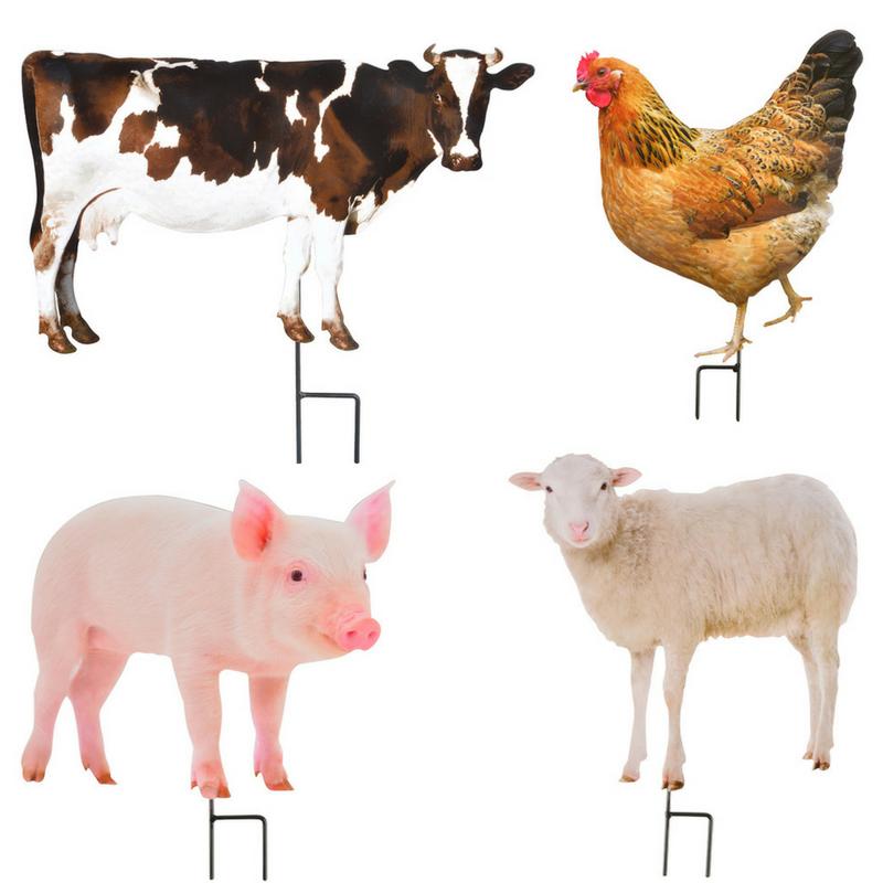 Leszúrható dekoráció farmon élő állatokkal