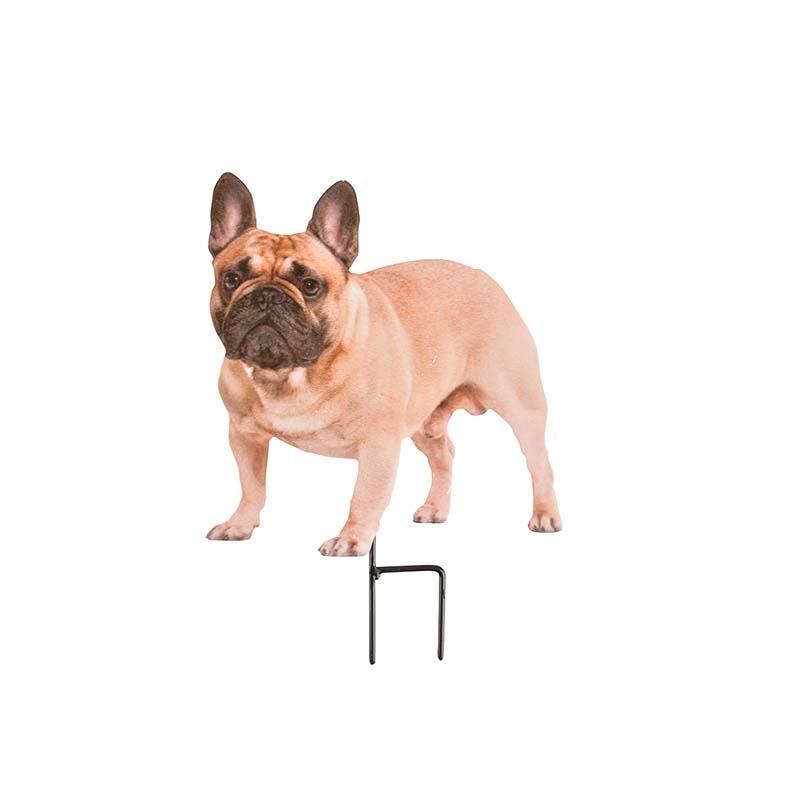 Leszúrható kerti dekoráció kutya mintával