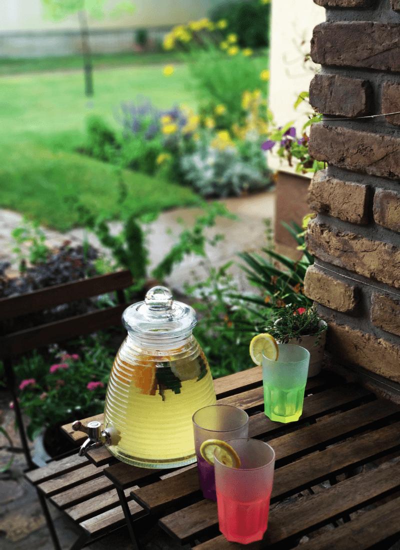 Limonádés üveg, 3 literes