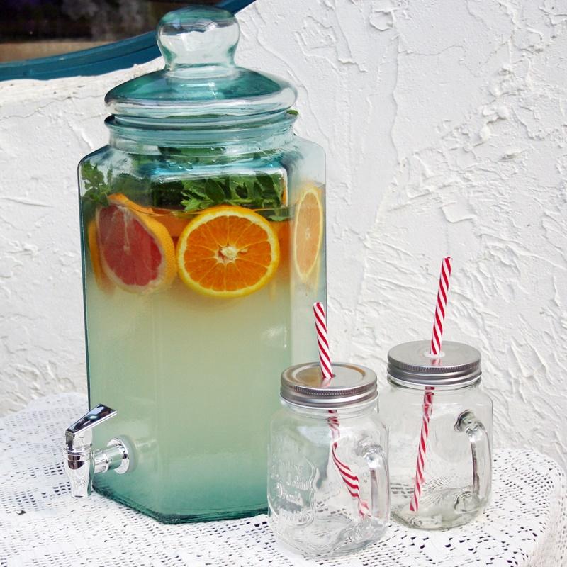 Limonádés üveg, 6,5 literes