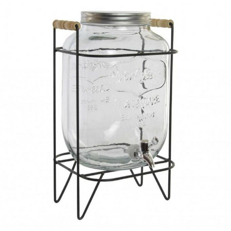 Limonádés üveg állvánnyal, 8 literes
