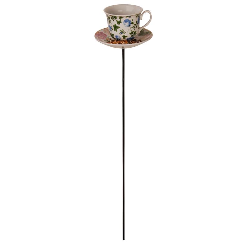 Leszúrható teáscsésze madáretető vegyesen