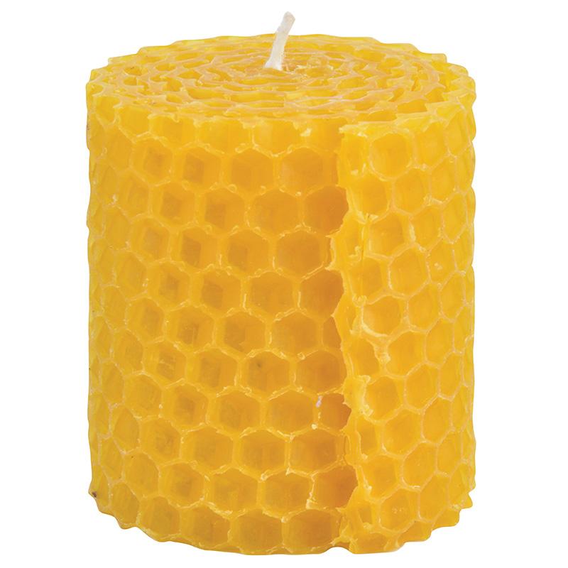 Méhviasz gyertya szett