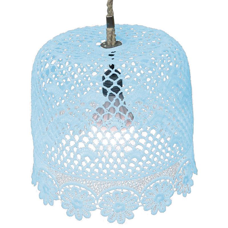 Kék csipkés lámpa
