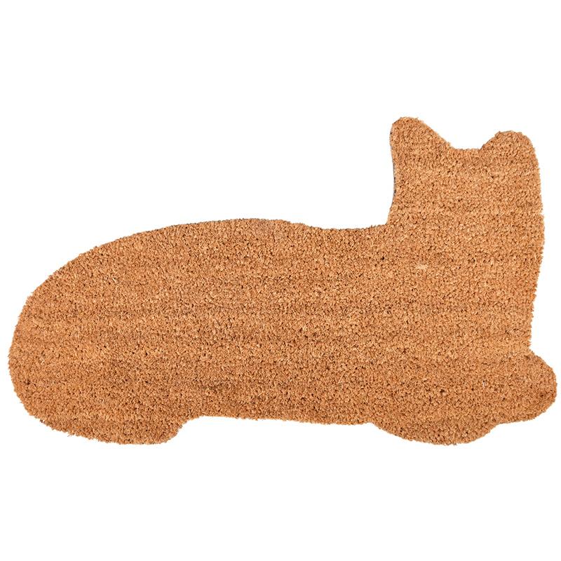 Macska alakú kókuszrost lábtörlő 75 x 45 cm
