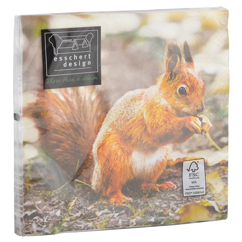 Madaras és mókusos szalvéta