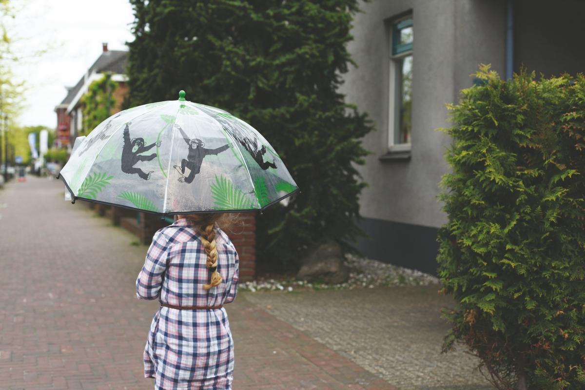 Majmos gyerek esernyő