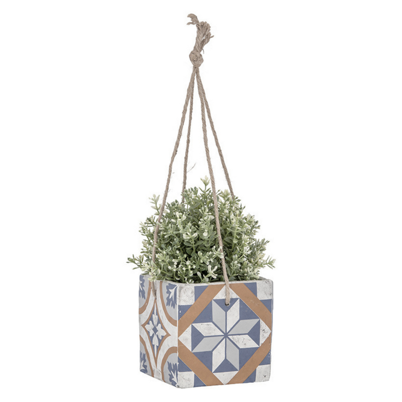 Mediterrán mozaikos függő virágcserép, L