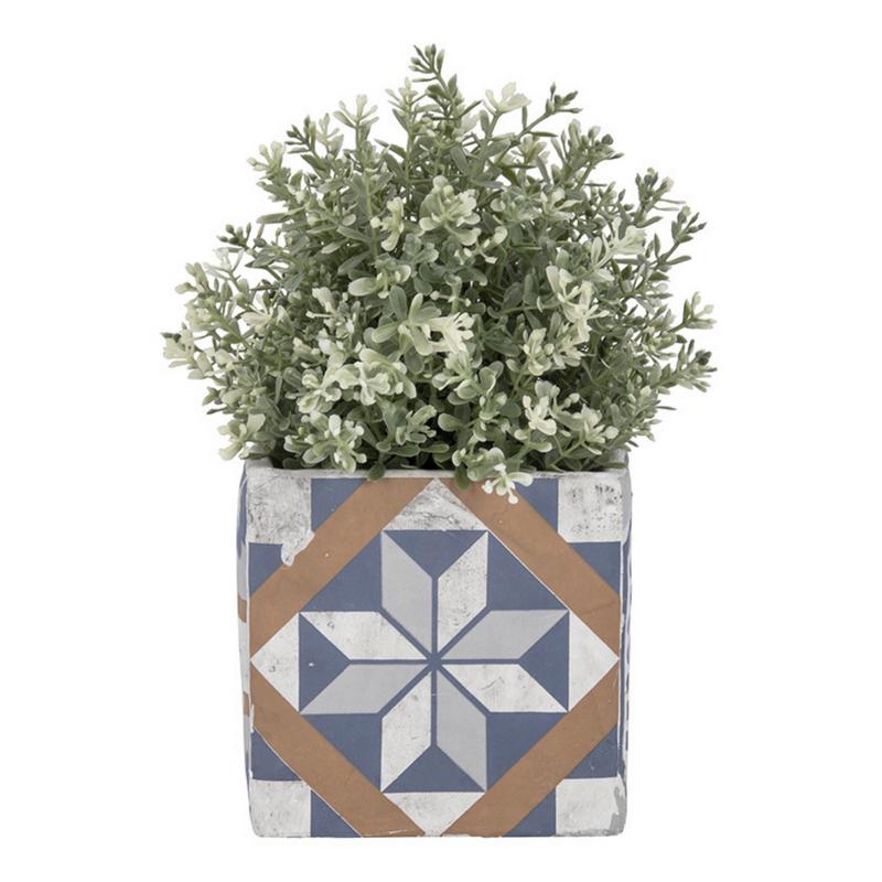 Mediterrán mozaikos virágcserép, L