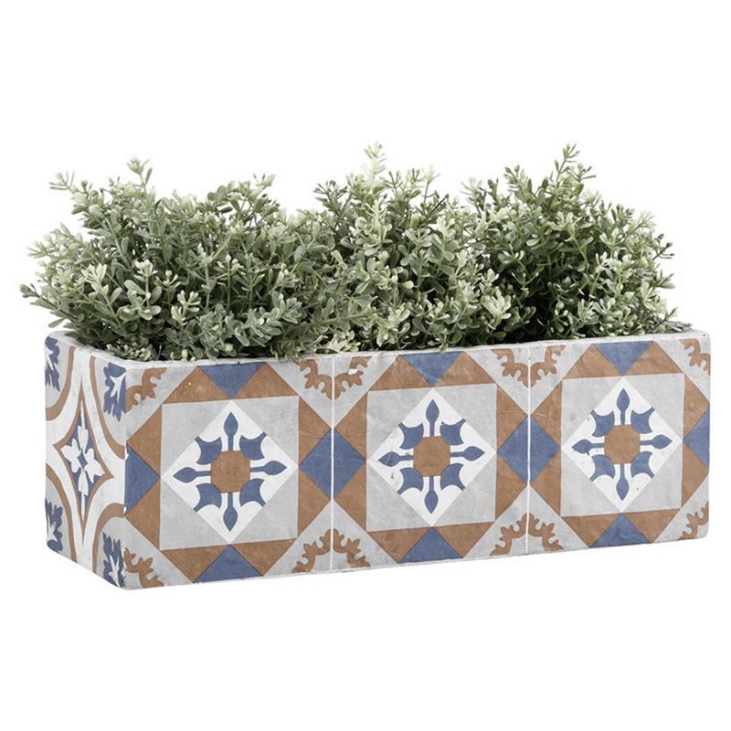 Mediterrán mozaikos virágláda