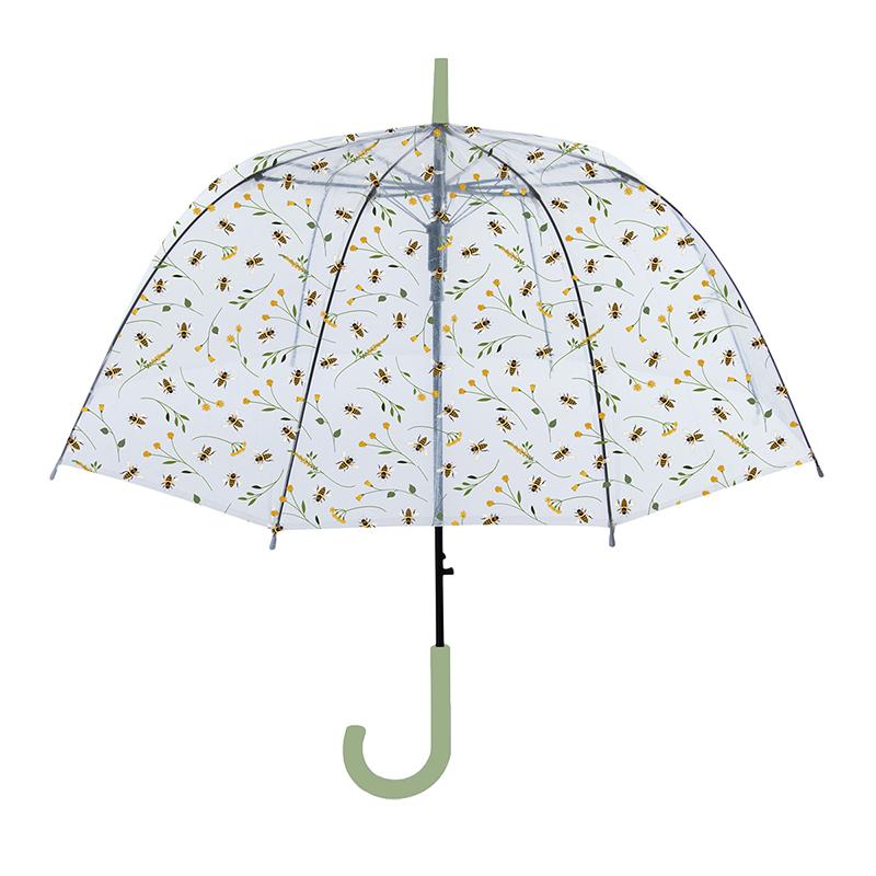 Méhecske mintás átlátszó esernyő