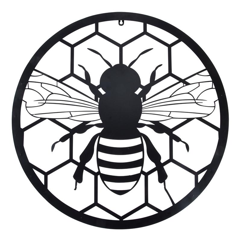Méhecske mintás fali dekoráció, lézervágott lemez