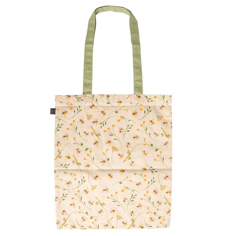 Méhecske mintás pamut bevásárló táska