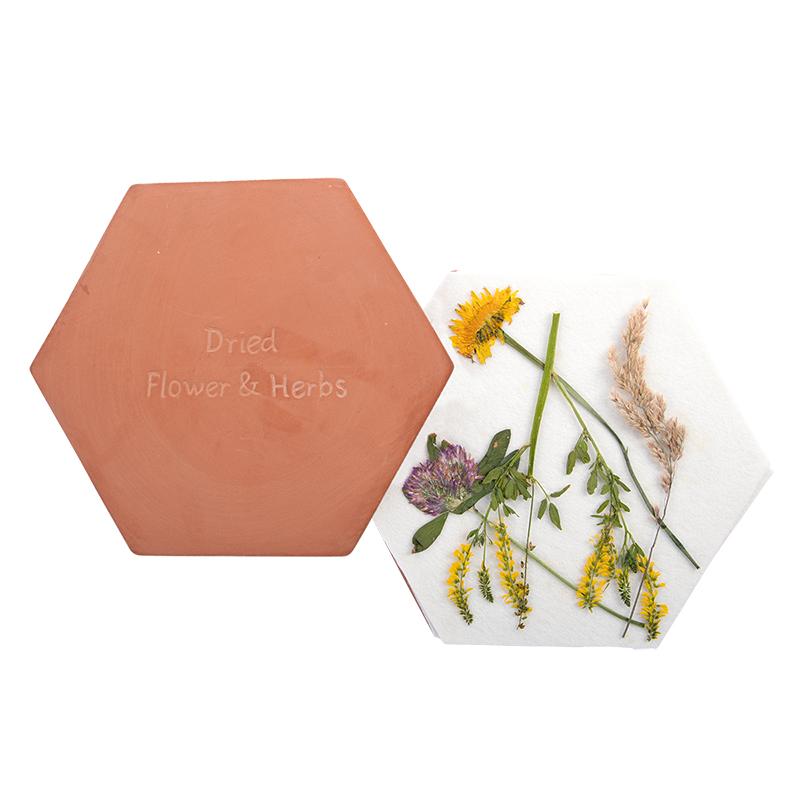Mikrohullámú sütőben használható virágszárító szett ajándékdobozban