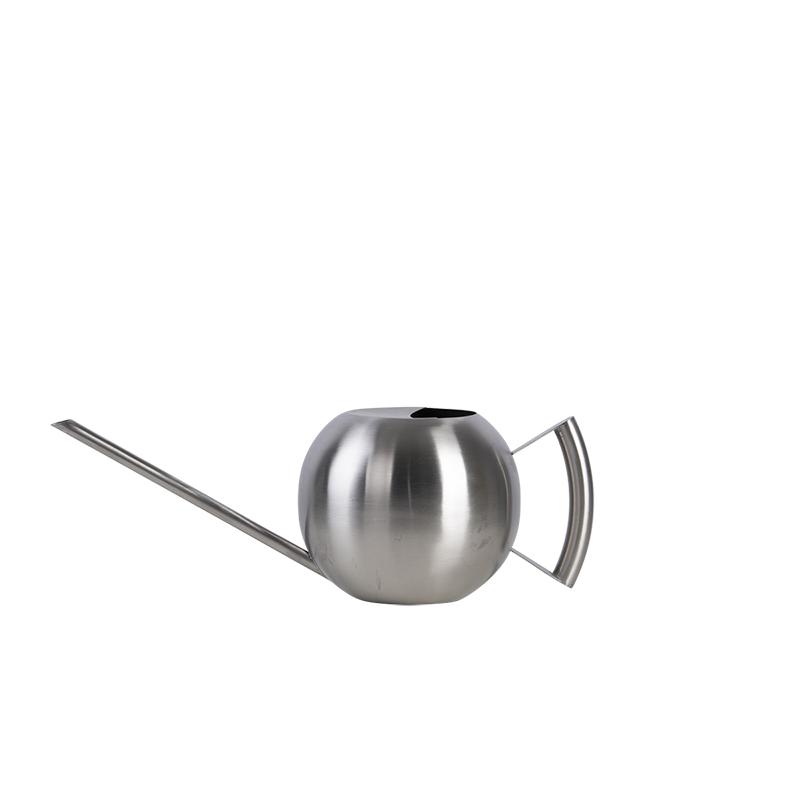 Modern, gömb alakú rozsdamentes acél locsolókanna, 1,2 literes