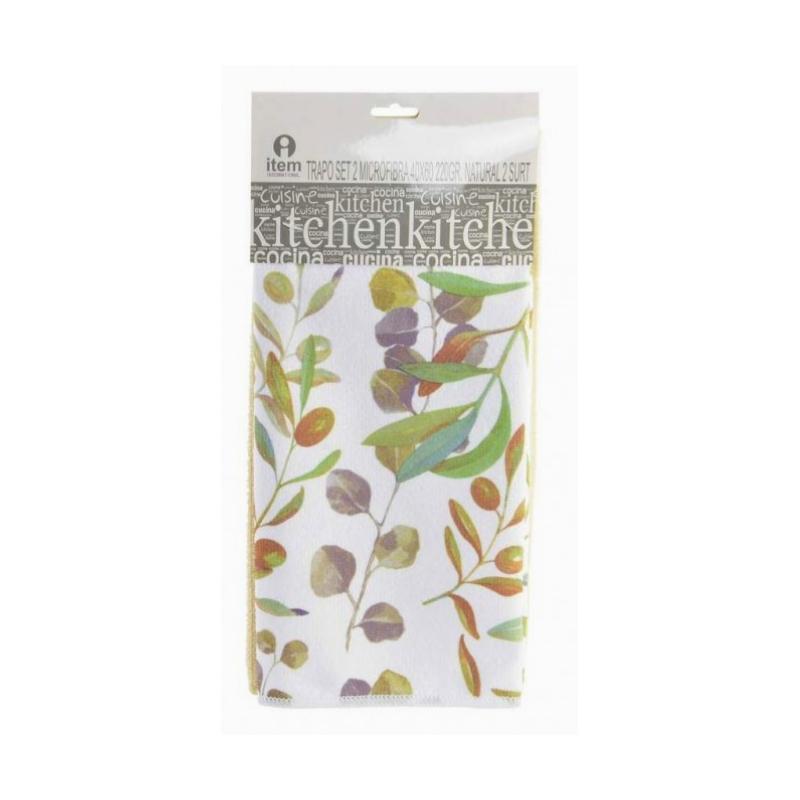 Olíva mintás mikroszálas konyharuha