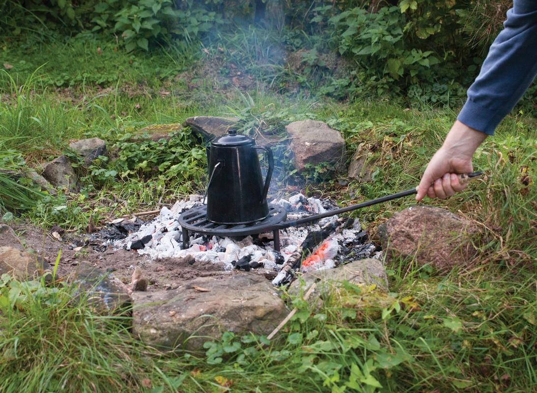 Öntöttvas grillrács nyéllel