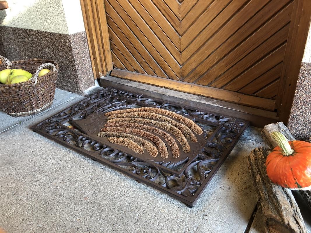 Öntöttvas sünös lábtörlő kókuszrost betéttel 73 X 46 CM