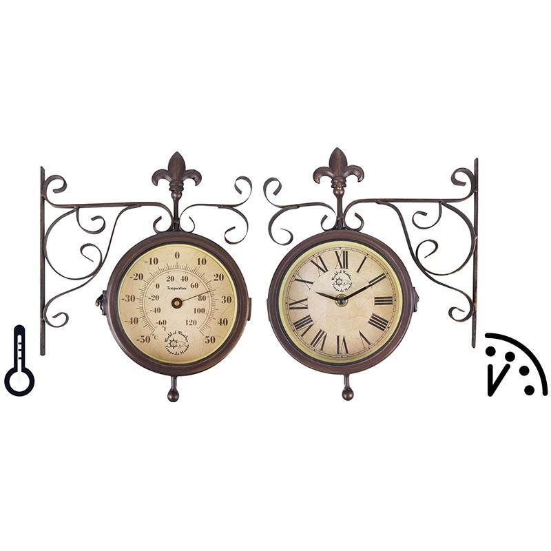 Óra és hőmérő