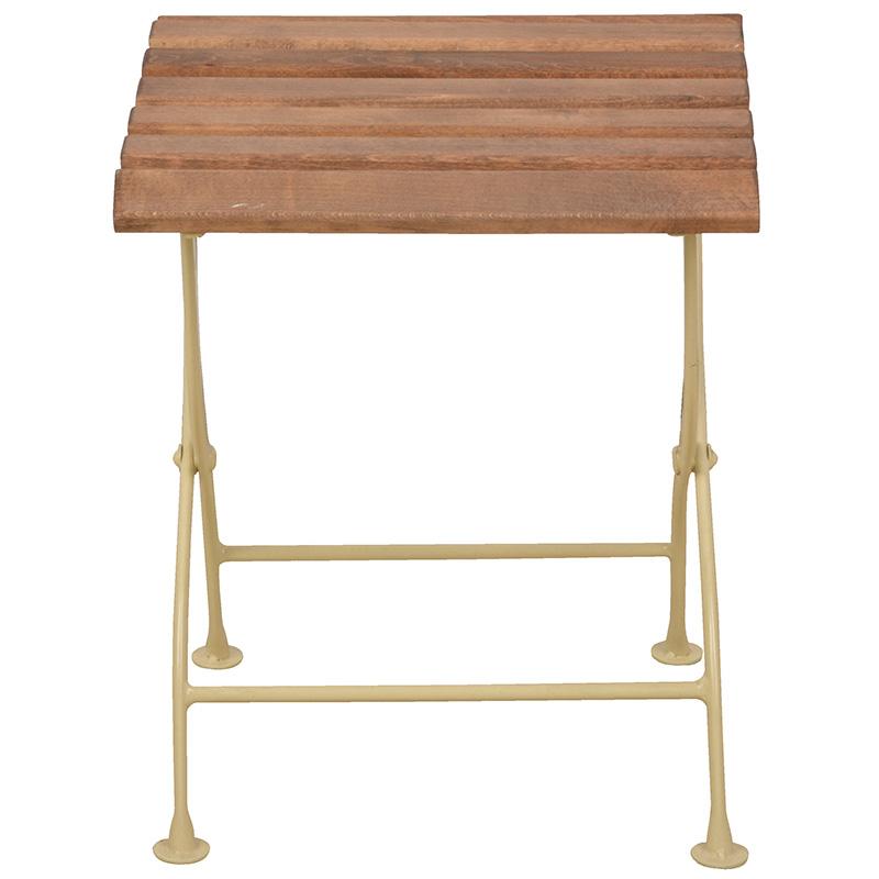 Összecsukható fa asztalka