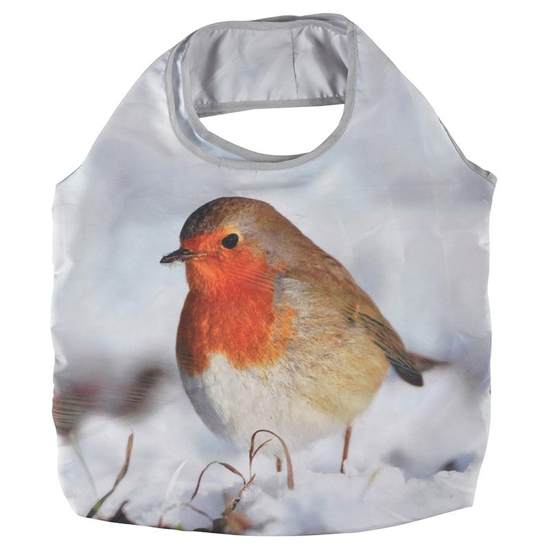 Összehajtható vörösbegyes táska