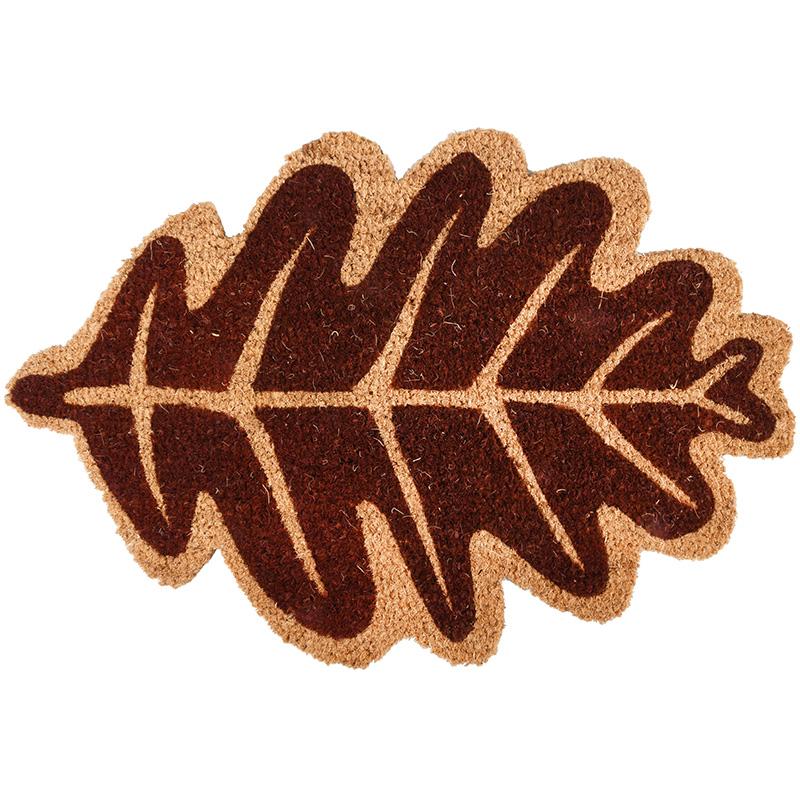 Őszi levél formájú kókuszrost lábtörlő 75 X 45 CM