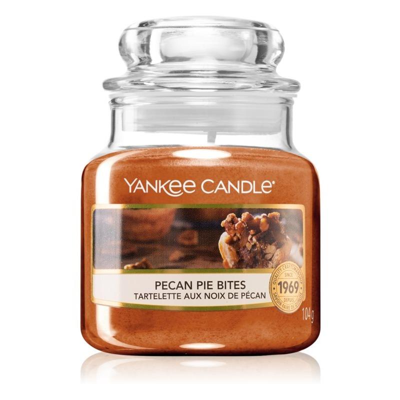 Pecan Pie Bites, Yankee Candle illatgyertya, kicsi üveg (mézes pekándió pite)