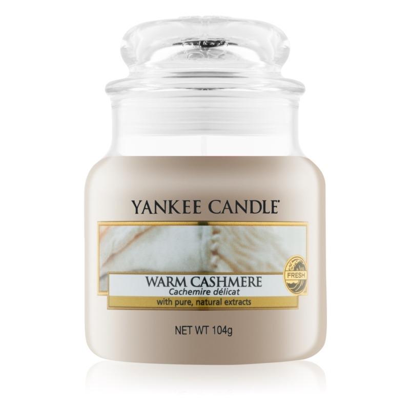 Warm Cashmere, Yankee Candle illatgyertya, kicsi üveg (meleg kasmír, fűszeres aroma)