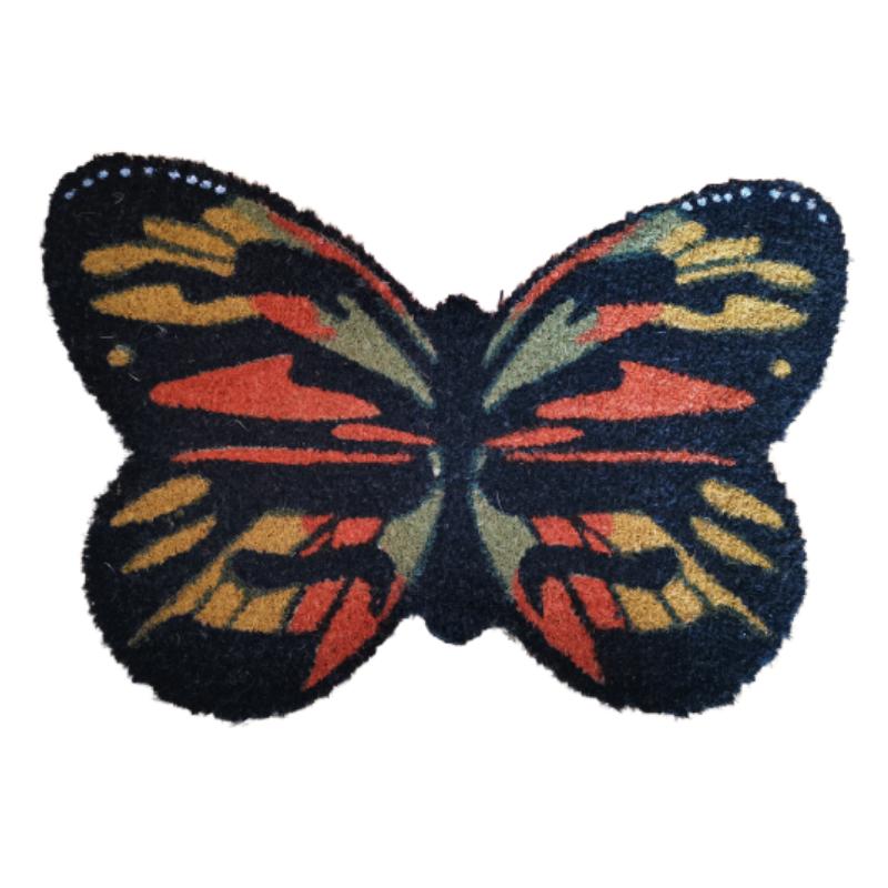 Pillangó alakú kókuszrost lábtörlő 60 X 40