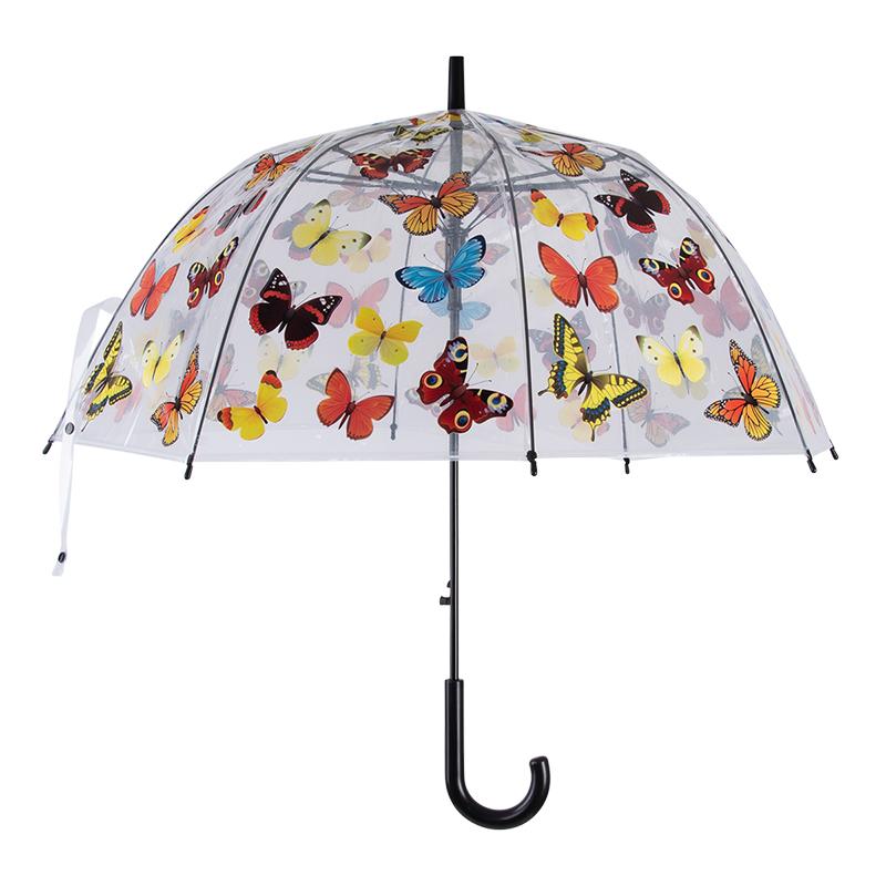 Pillangó mintás átlátszó esernyő