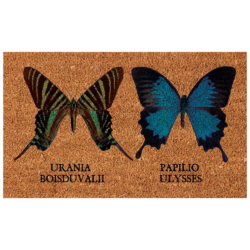 Pillangós kókuszrost lábtörlő 75 x 45 cm